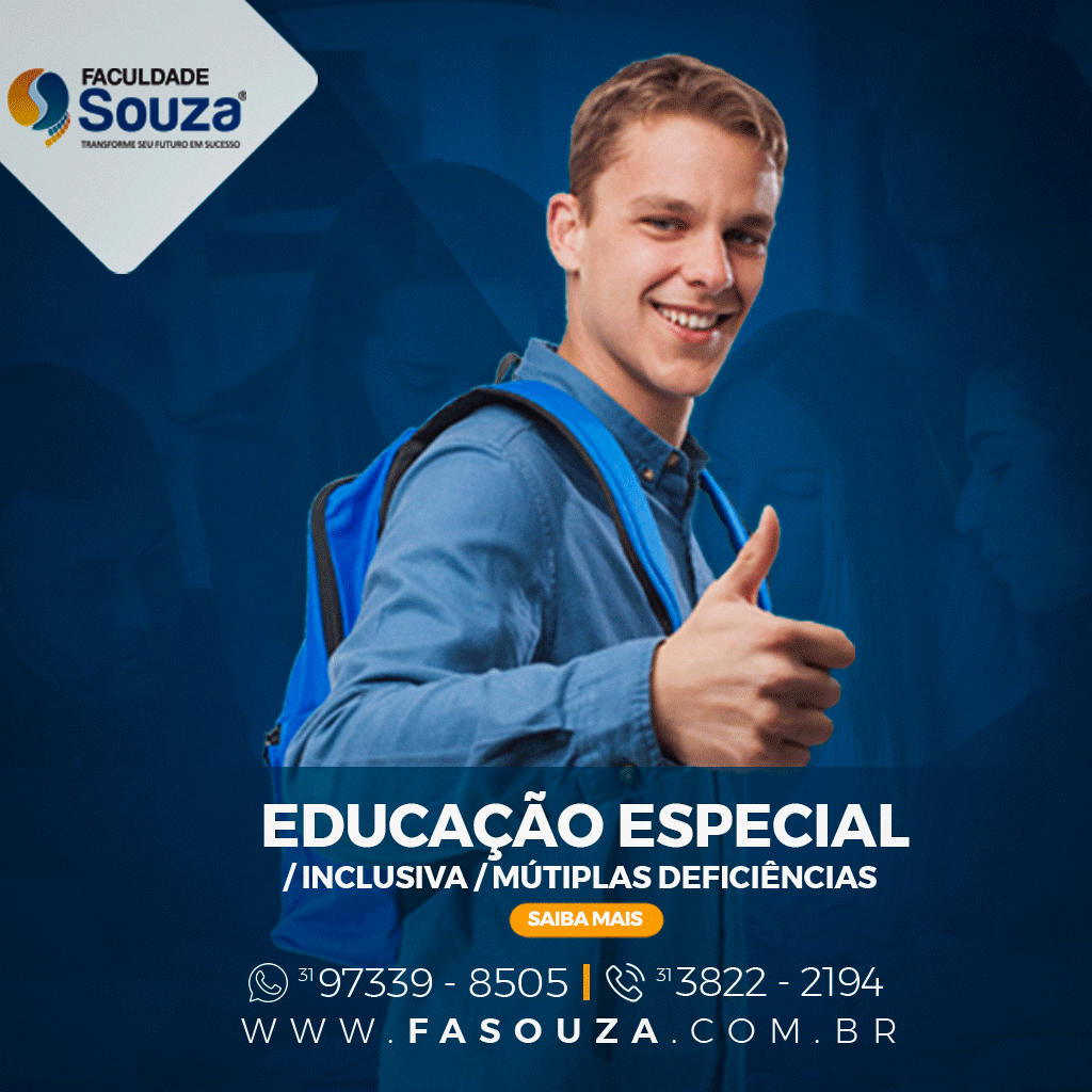 Faculdade Souza - Educação especial/ Educação inclusiva/ Múltiplas deficiências