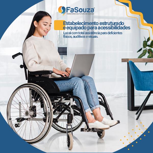 A Faculdade Souza - FaSouza está preparada para atender os alunos com necessidades especiais