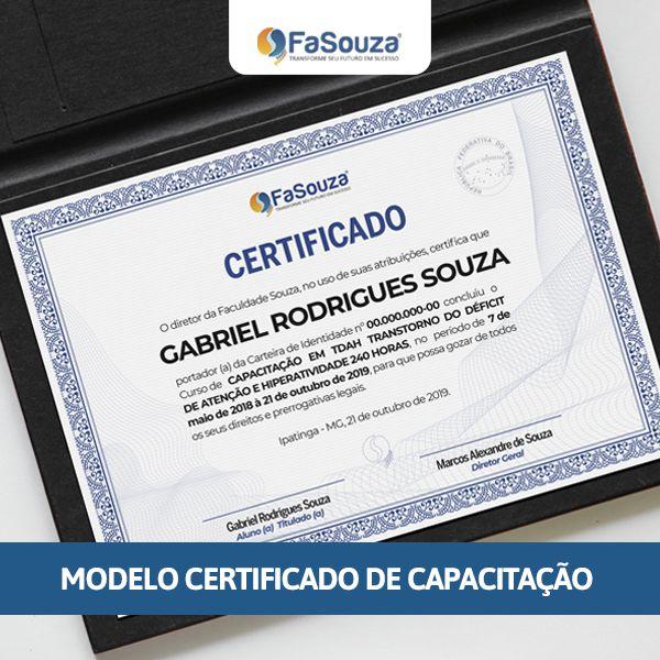 Curso de capacitação da FaSouza recebe novo modelo de certificado