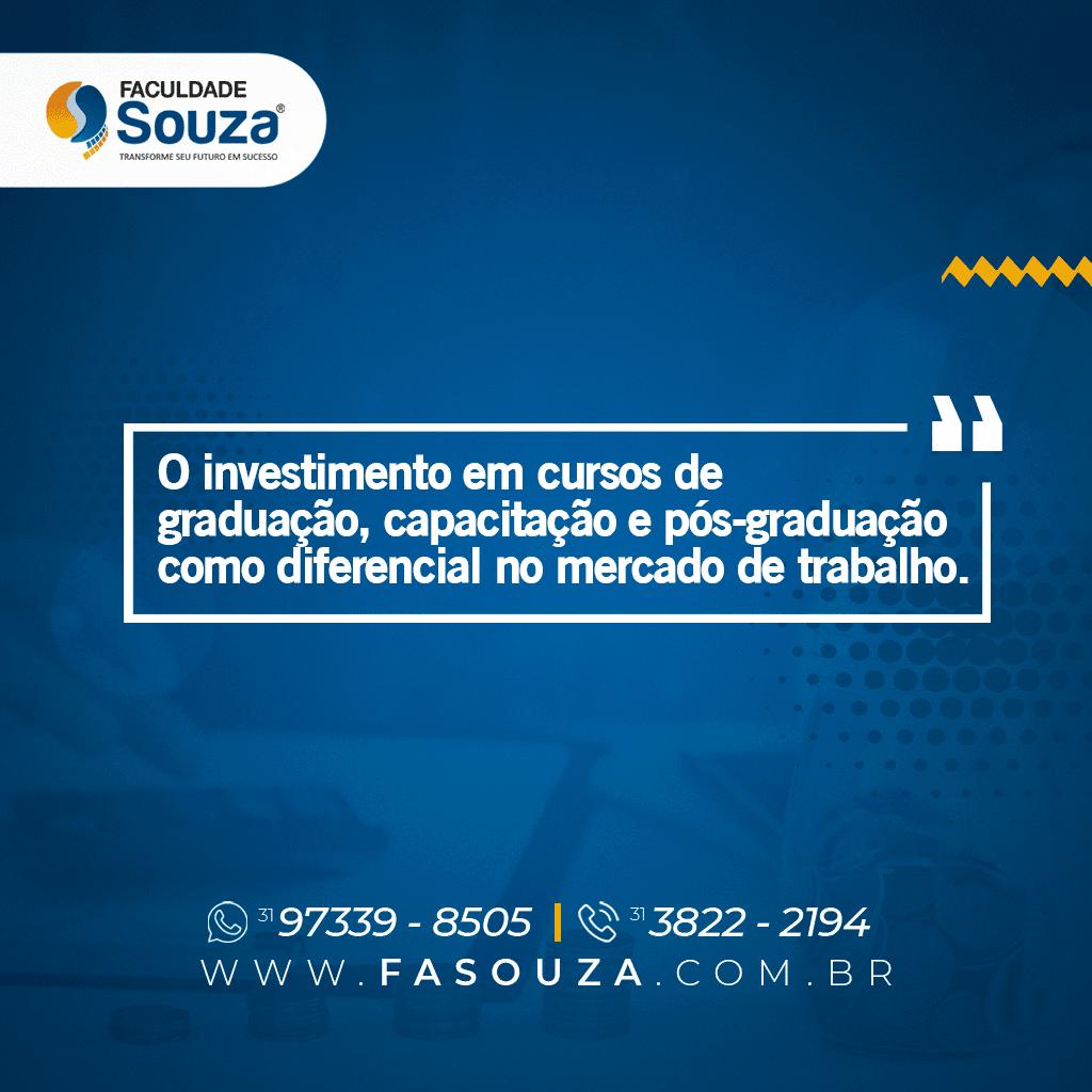 O investimento em cursos de graduação, capacitação e pós-graduação como diferencial no mercado de trabalho.