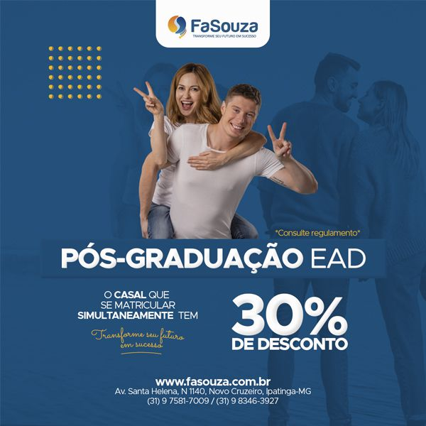 Promoção para Casais nos Cursos de Pós-Graduação EAD